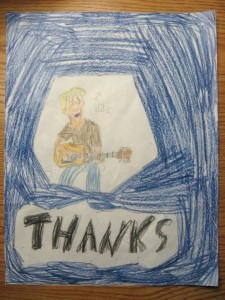 Guitar Student Thank You Drawing